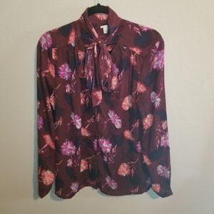 Halogen Nordstrom Floral Print Blouse Size L